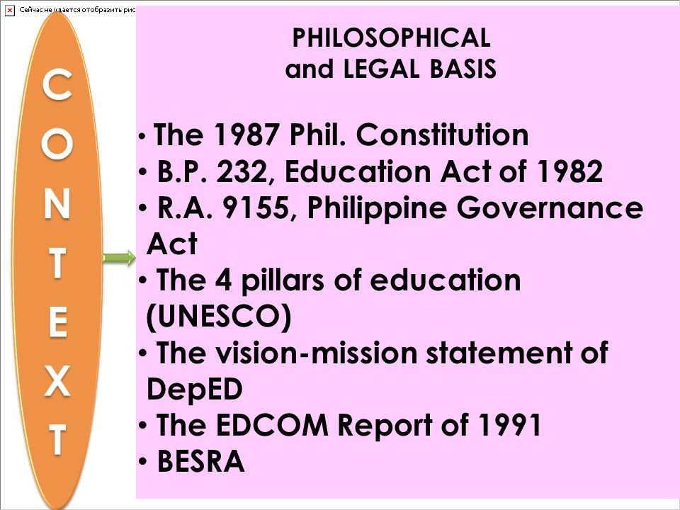 CONTEXT B.P. 232, Education Act of 1982