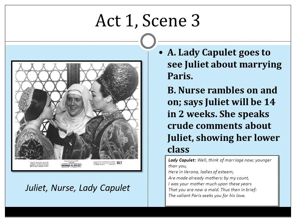 Juliet, Nurse, Lady Capulet