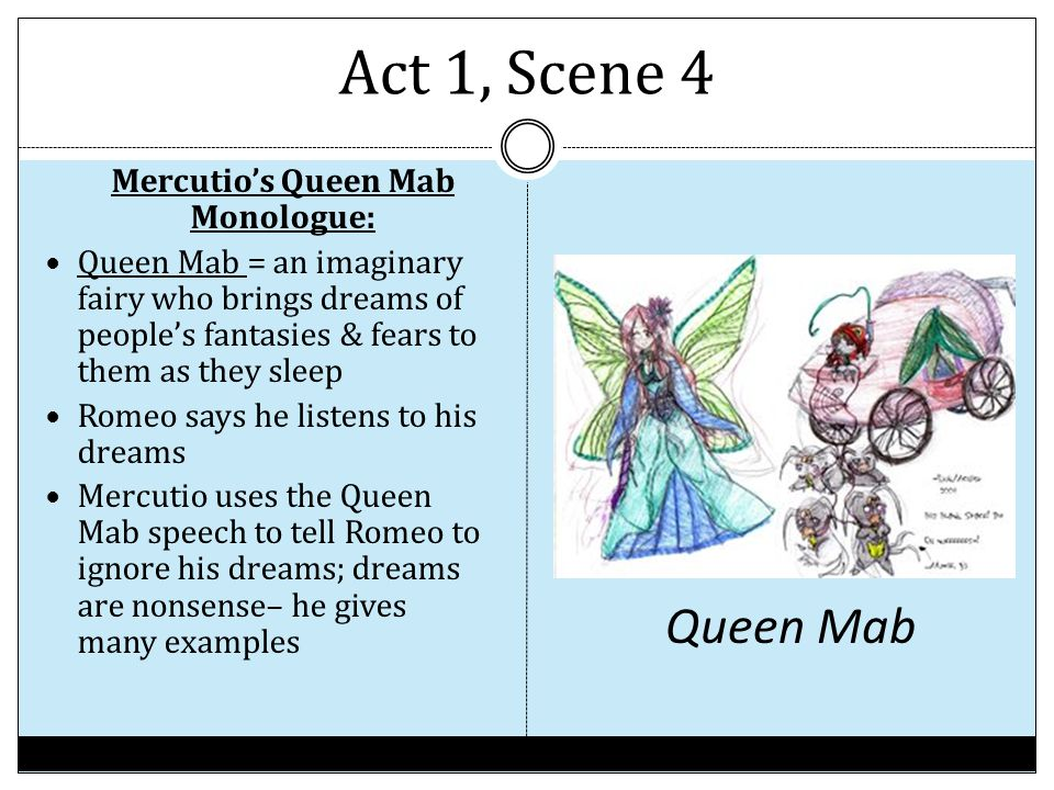 Mercutio's Queen Mab Monologue: