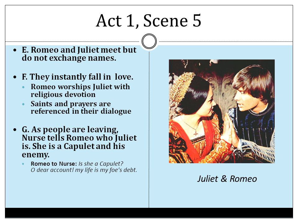 What makes romeo and juliet fall in love
