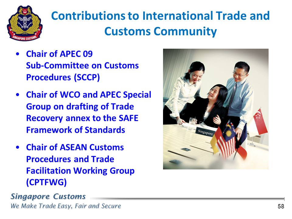Contributions to International Trade and Customs Community
