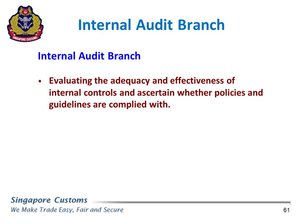 Internal Audit Branch Internal Audit Branch