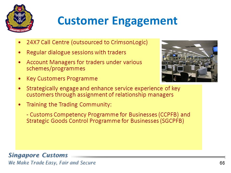 Customer Engagement 24X7 Call Centre (outsourced to CrimsonLogic)