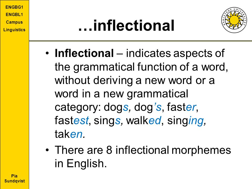 …inflectional