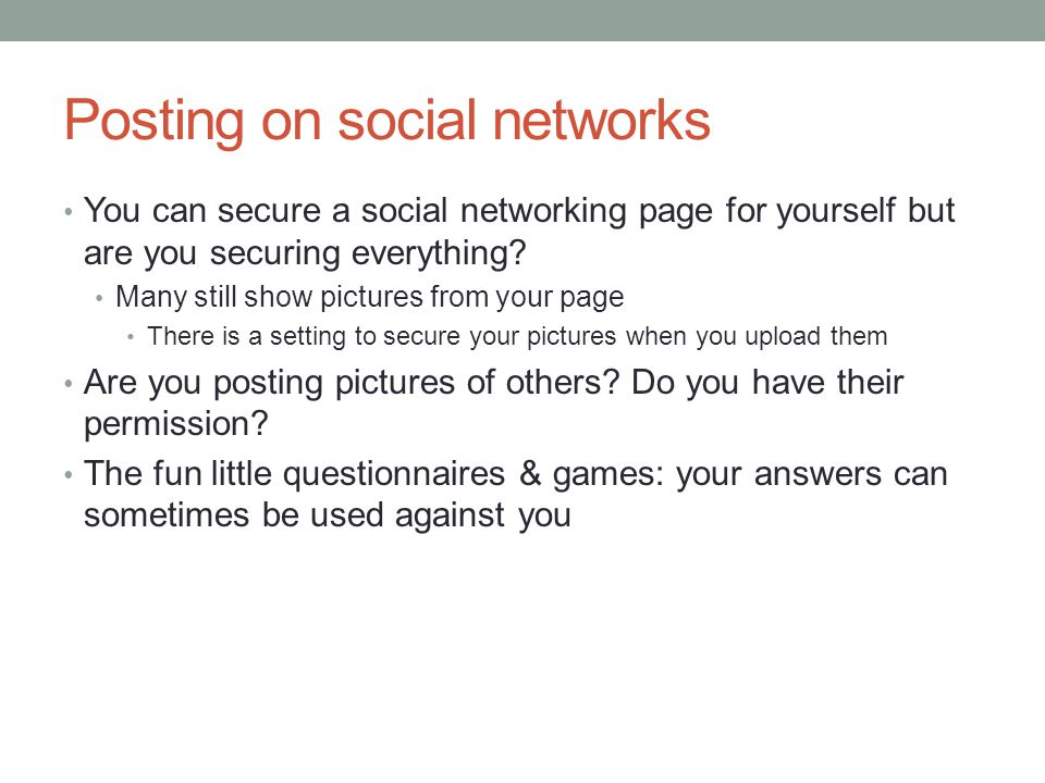 Posting on social networks