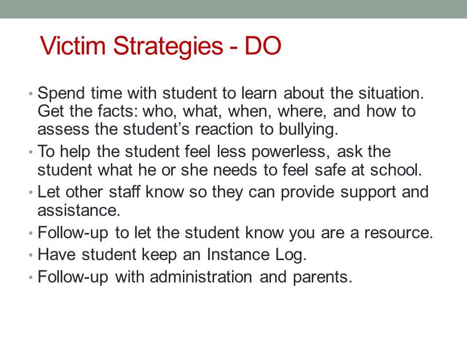 Victim Strategies - DO