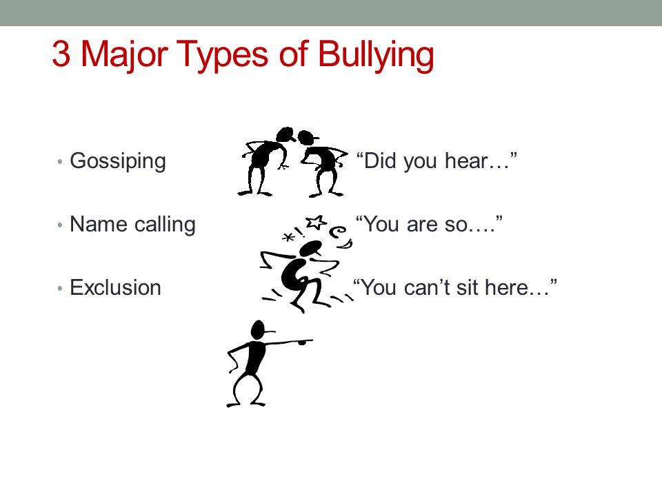 3 Major Types of Bullying