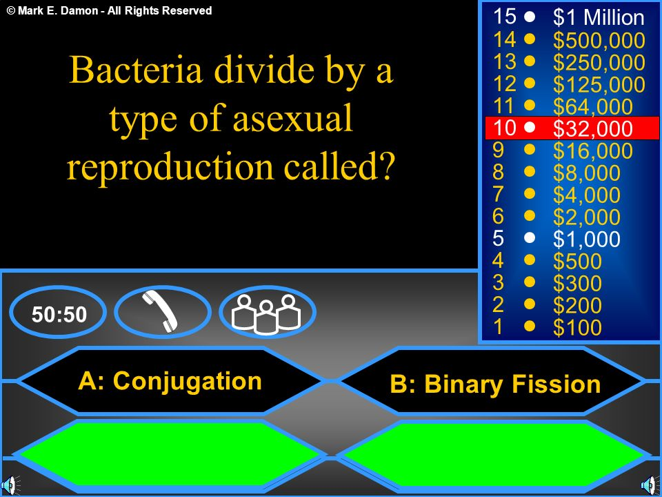 Bacteria divide by a type of asexual reproduction called