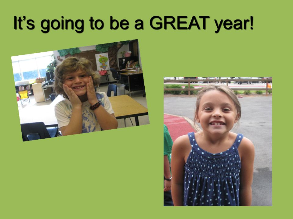 It's going to be a GREAT year!