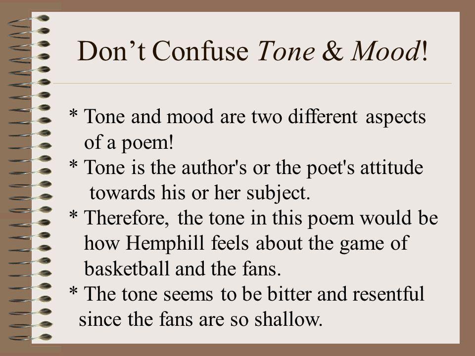 Don't Confuse Tone & Mood!