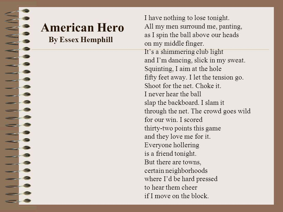 American Hero By Essex Hemphill
