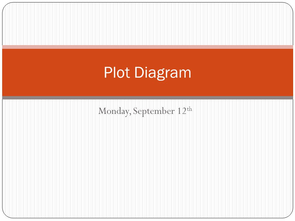 Plot Diagram Monday, September 12th