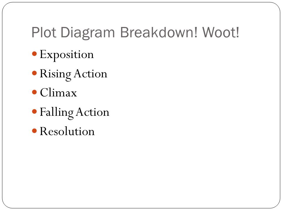 Plot Diagram Breakdown! Woot!