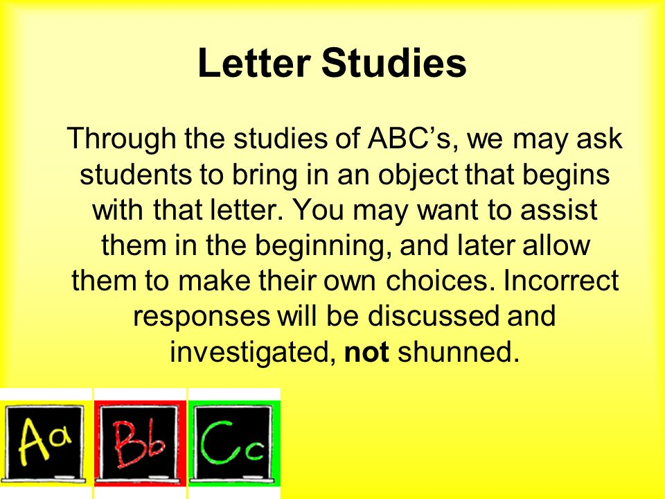 Letter Studies