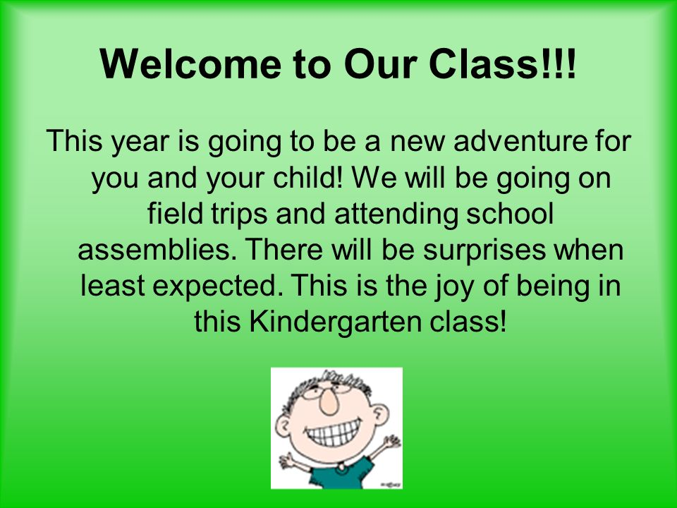 Welcome to Our Class!!!
