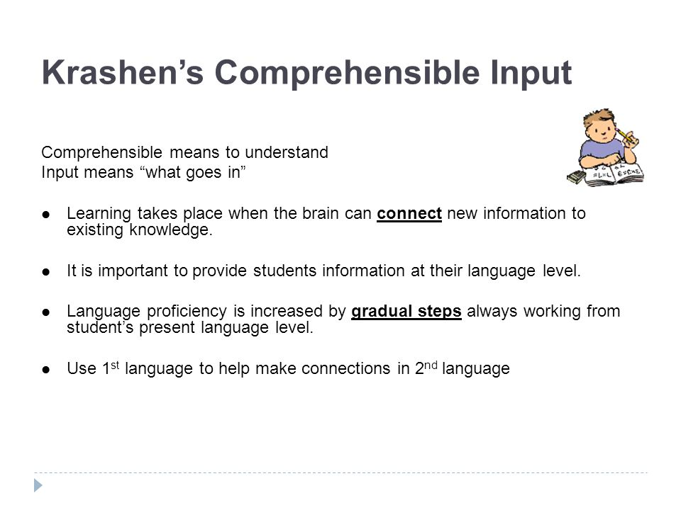 Krashen's Comprehensible Input