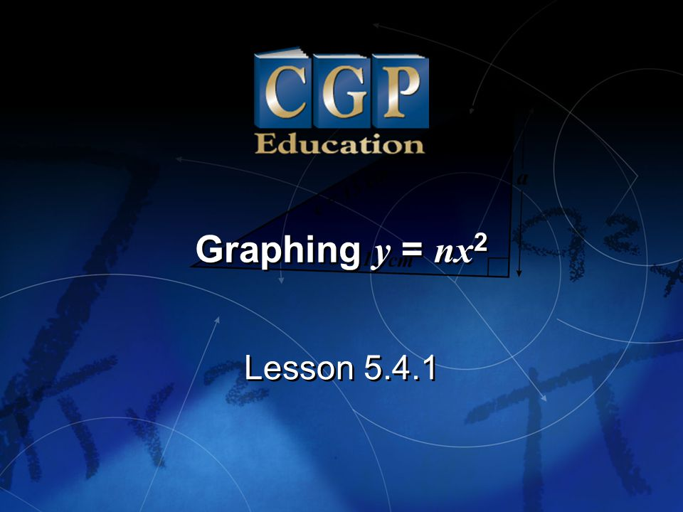 Graphing y = nx2 Lesson 5.4.1