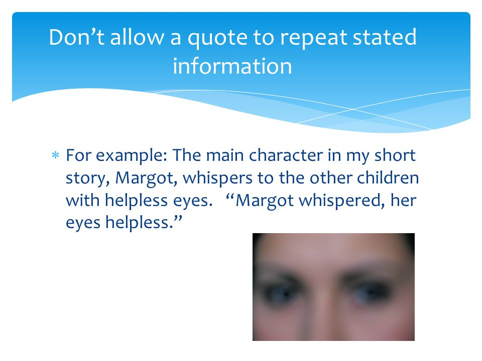 Don't allow a quote to repeat stated information