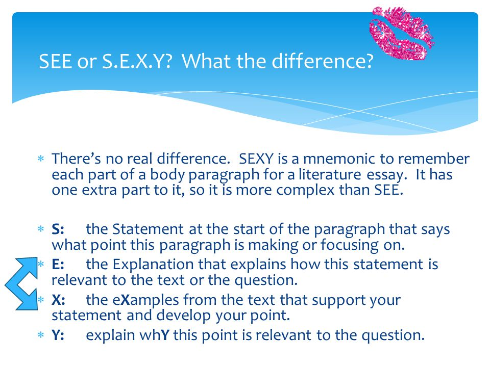 SEE or S.E.X.Y What the difference