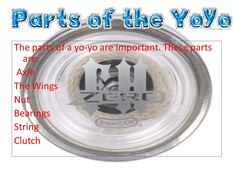 The parts of a yo-yo are important