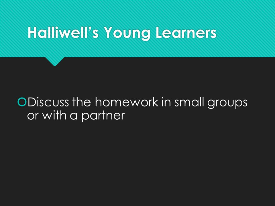 Halliwell's Young Learners