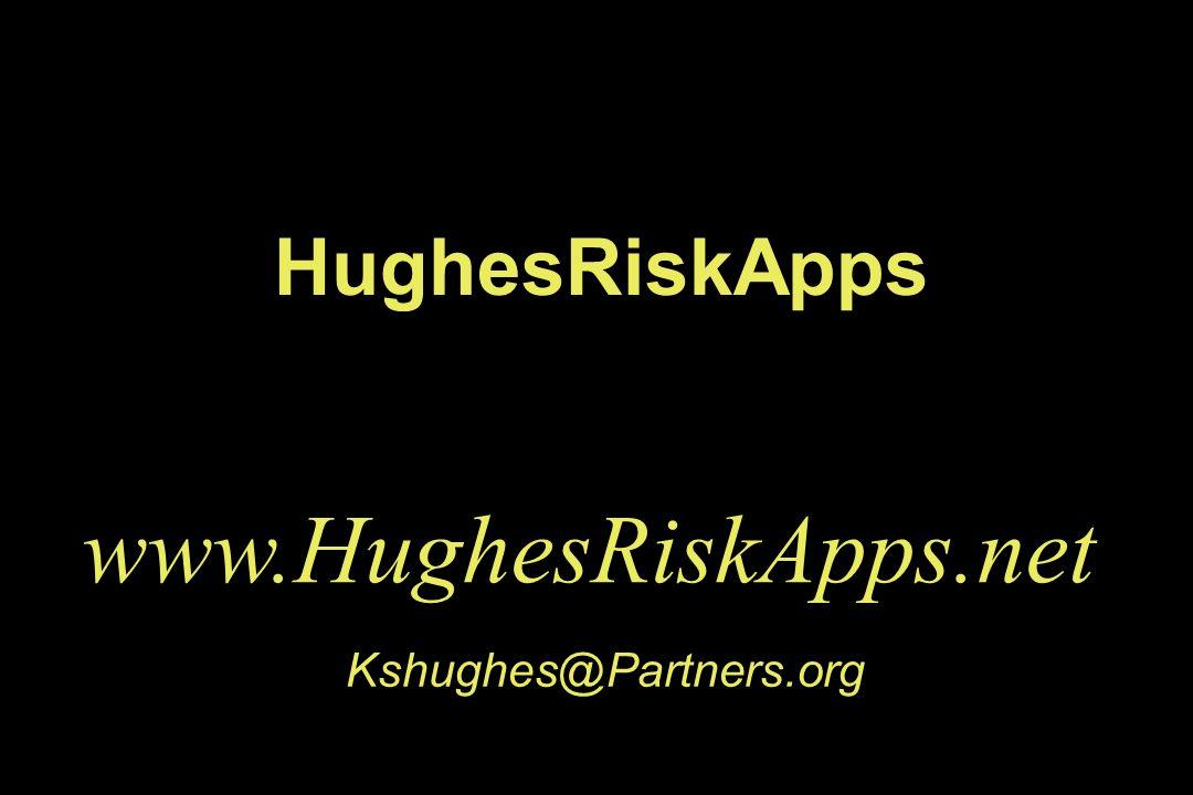 HughesRiskApps www.HughesRiskApps.net Kshughes@Partners.org