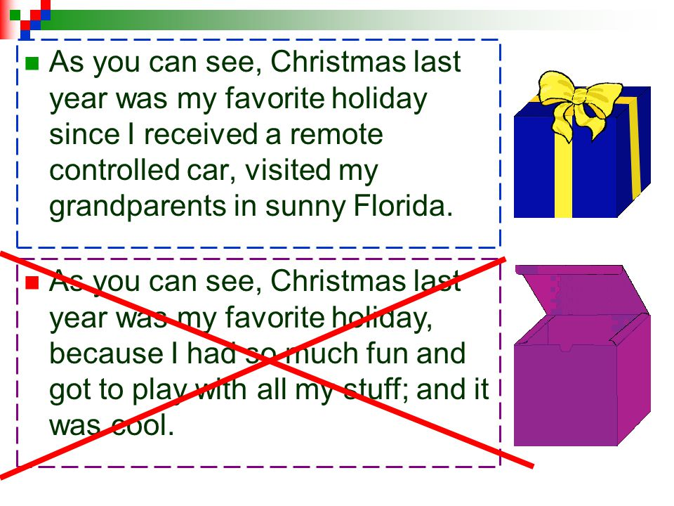 As you can see, Christmas last year was my favorite holiday since I received a remote controlled car, visited my grandparents in sunny Florida.