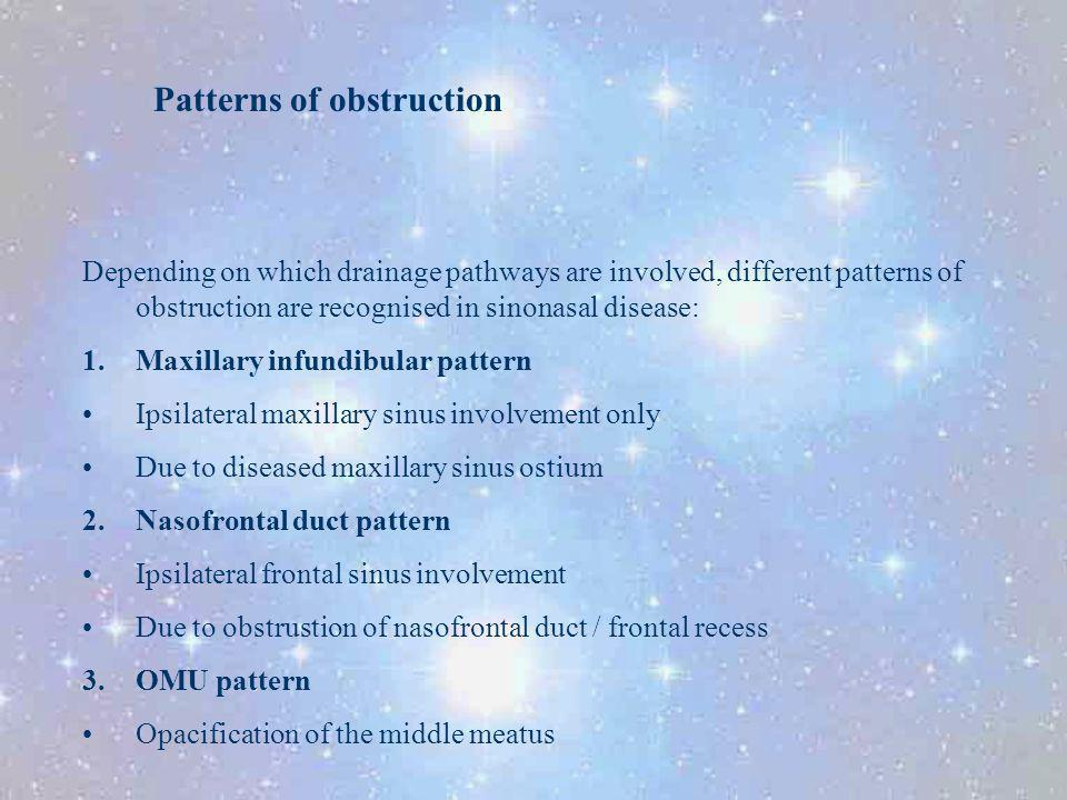 Patterns of obstruction
