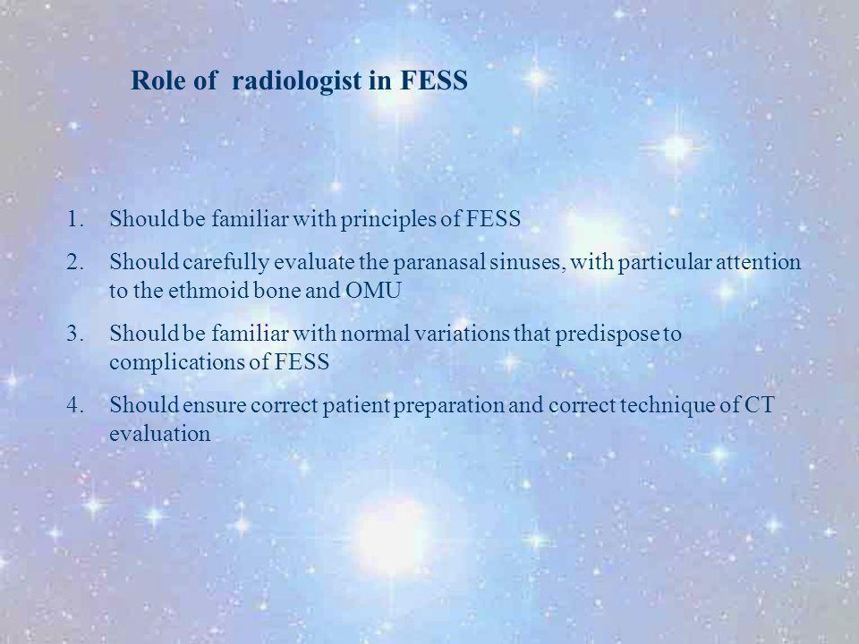 Role of radiologist in FESS