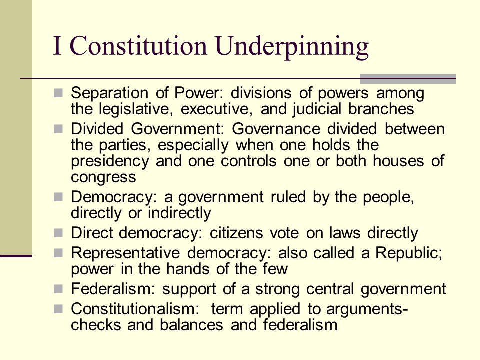 I Constitution Underpinning