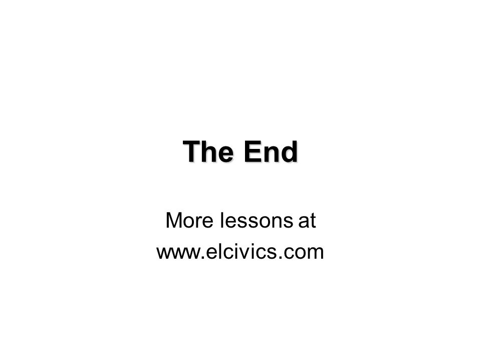 More lessons at www.elcivics.com