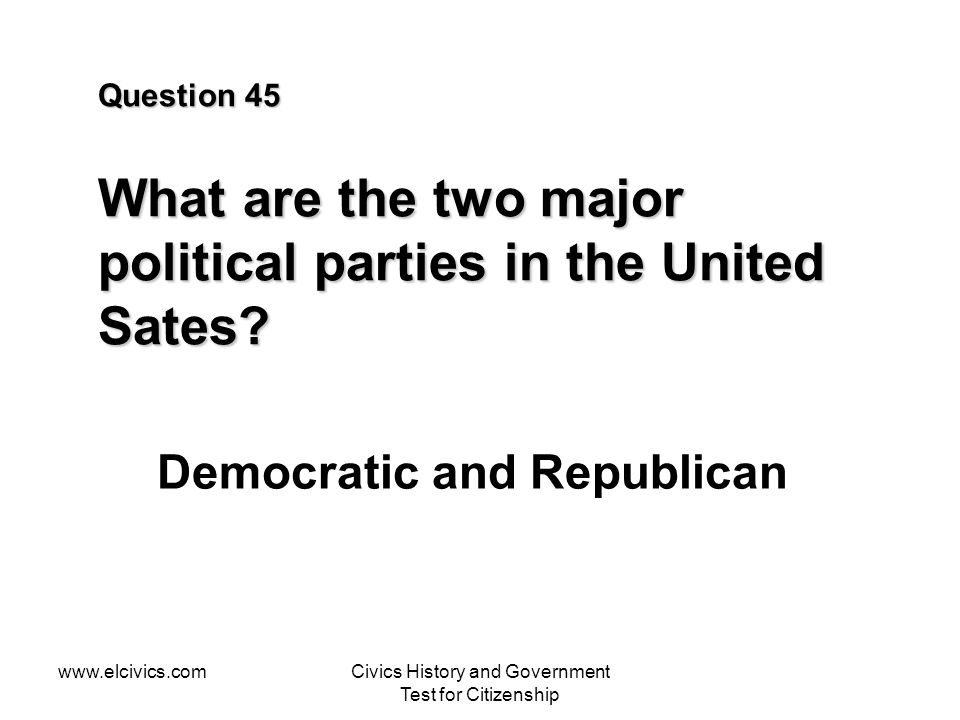 Democratic and Republican