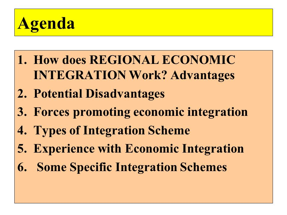 advantages and disadvantages of regional integration in Write two 350- to 500-word articles, one article in favor of regional integration and another article against regional integration describe the advantages and disadvantages of regional integration and relate the stage of economic development of the economically integrated region to potential business opportunities.