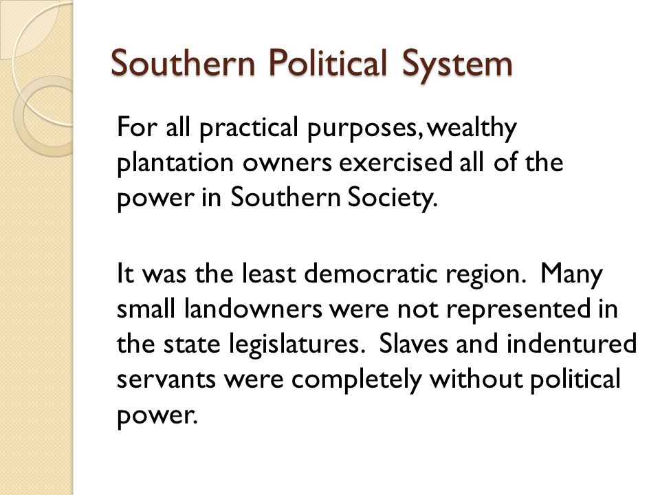Southern Political System