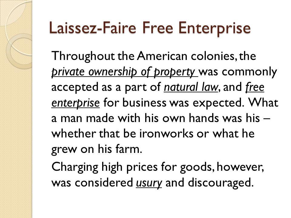 Laissez-Faire Free Enterprise