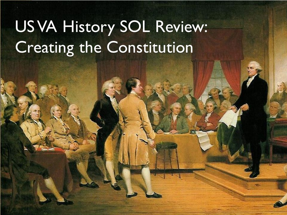 US VA History SOL Review: Creating the Constitution
