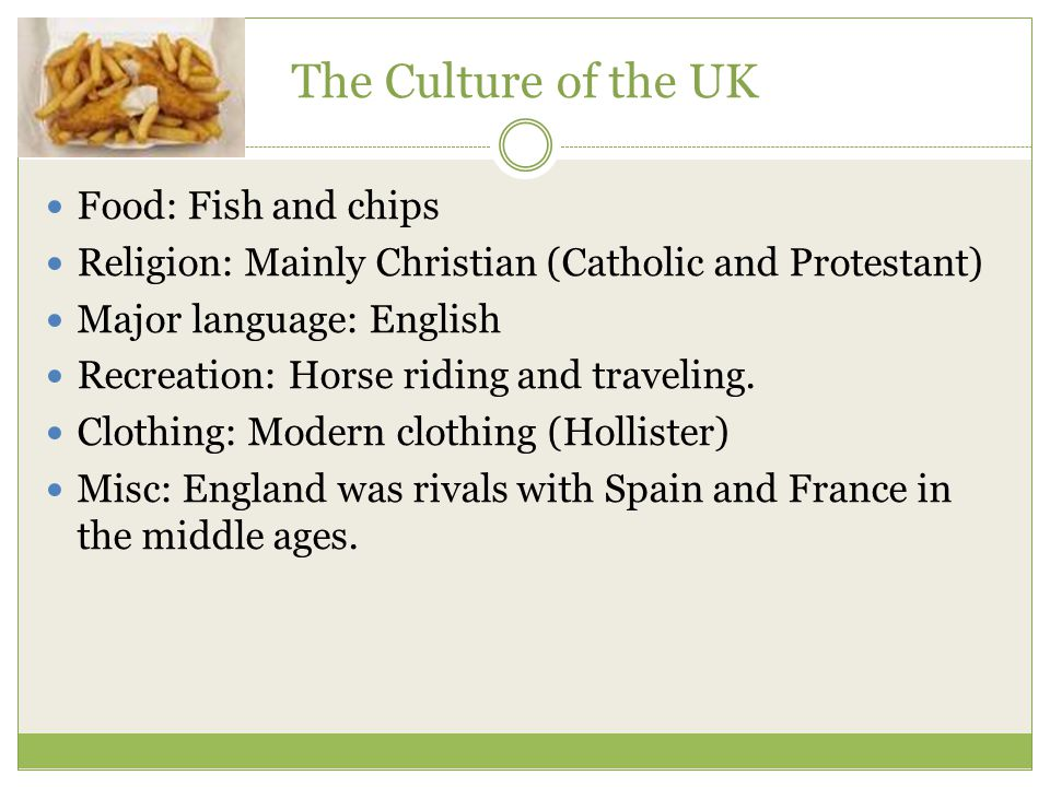 The Culture of the UK Food: Fish and chips