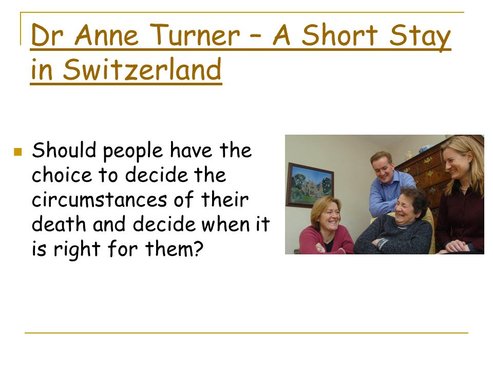Dr Anne Turner – A Short Stay in Switzerland