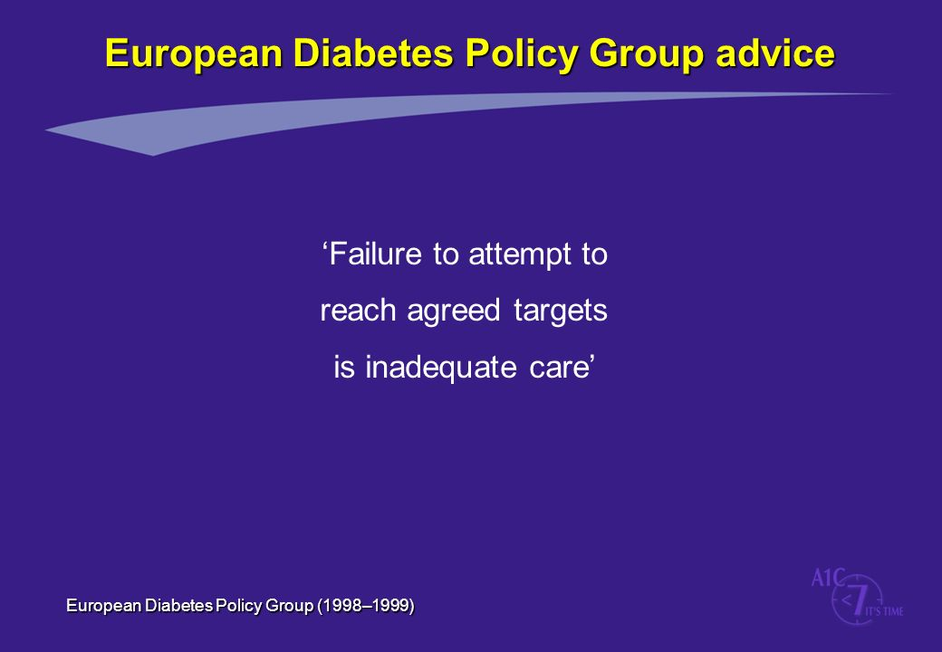 European Diabetes Policy Group advice