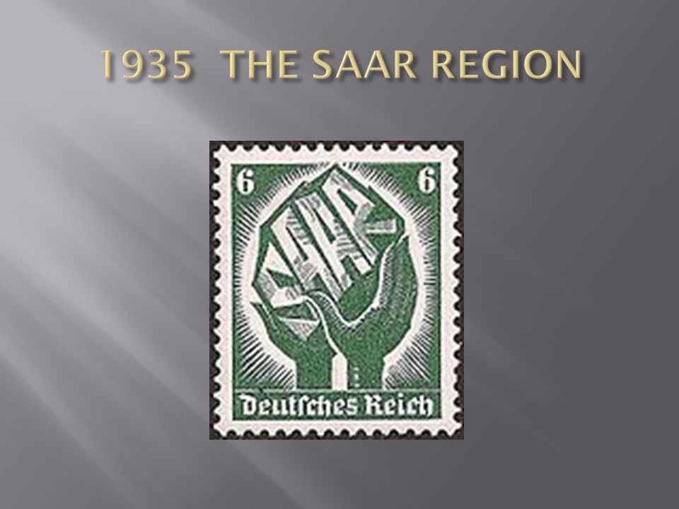 1935 THE SAAR REGION