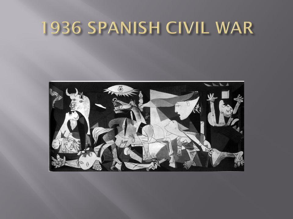 1936 SPANISH CIVIL WAR