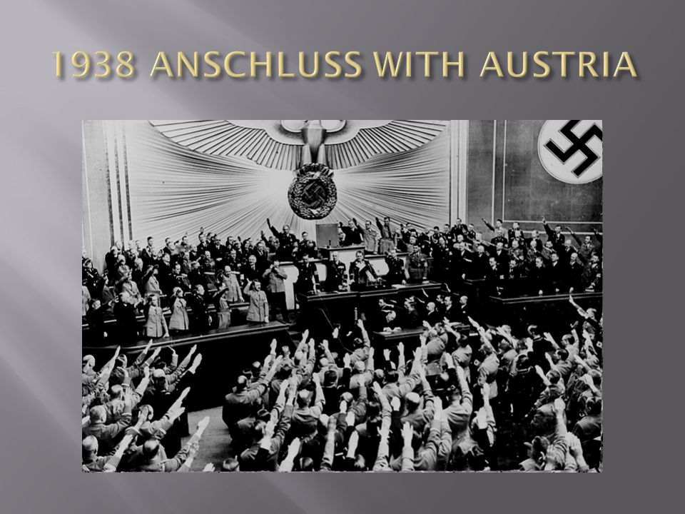 1938 ANSCHLUSS WITH AUSTRIA