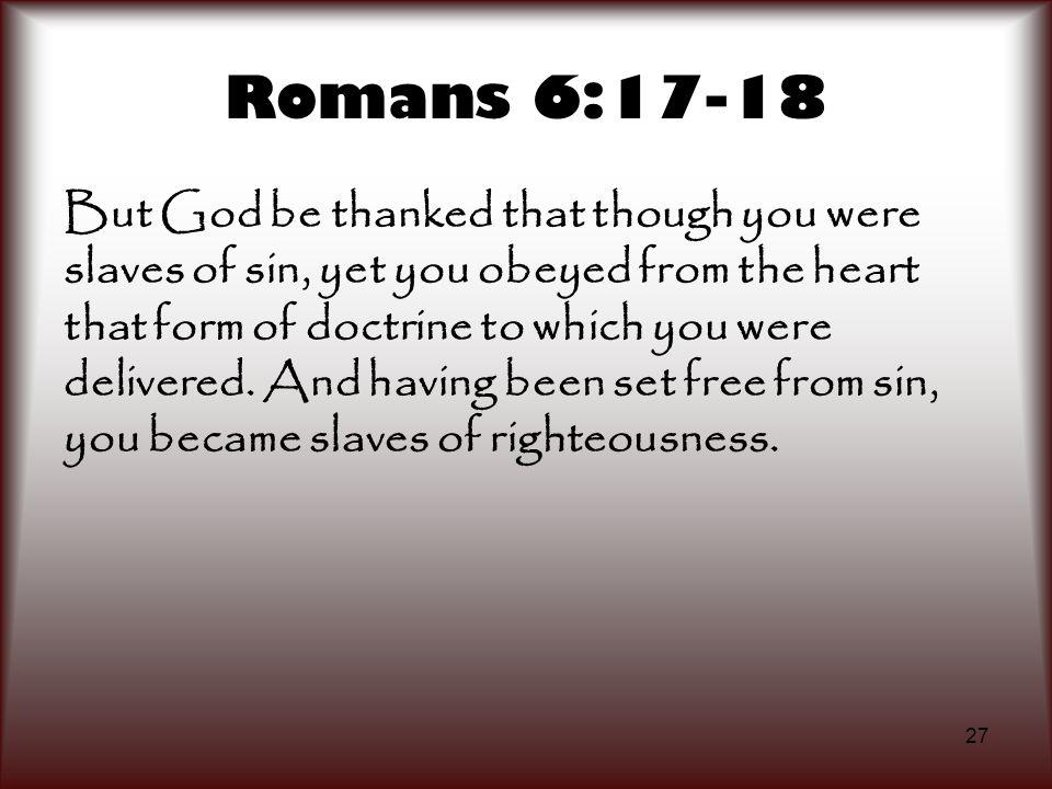 Romans 6:17-18