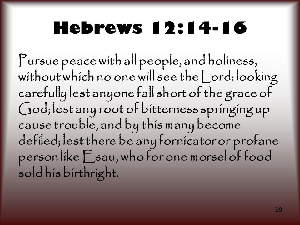 Hebrews 12:14-16