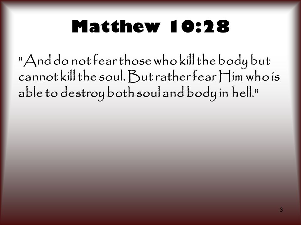 Matthew 10:28