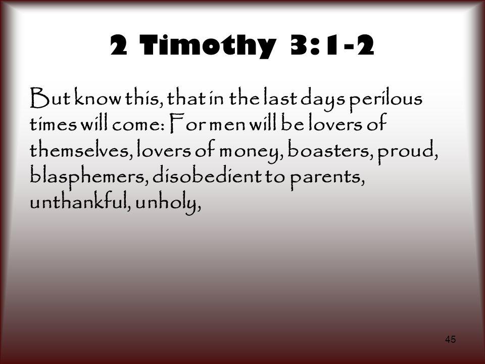 2 Timothy 3:1-2