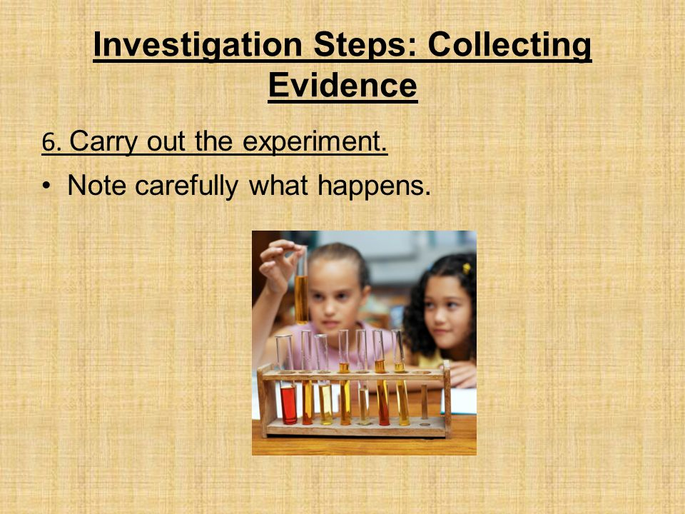 Investigation Steps: Collecting Evidence