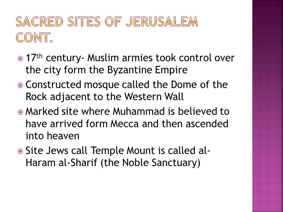 Sacred sites of jerusalem cont.