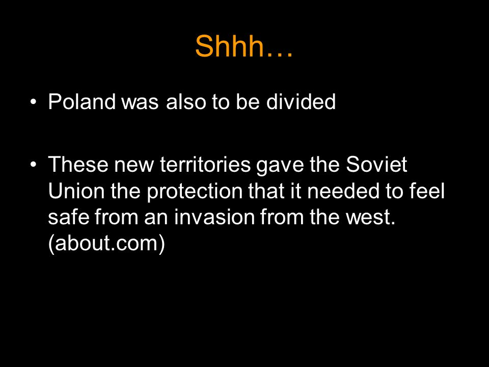 Shhh… Poland was also to be divided