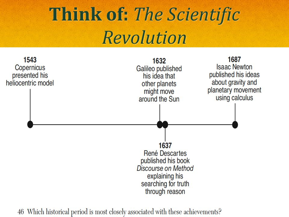 Think of: The Scientific Revolution